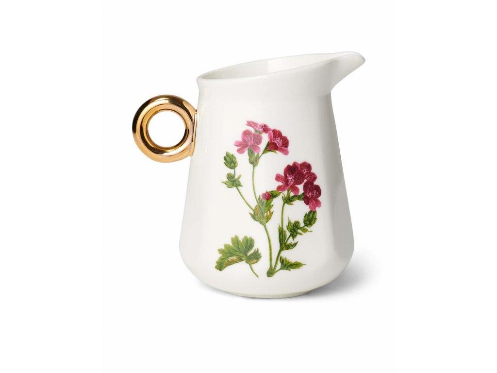 džbánik na smotanu biely porcelán