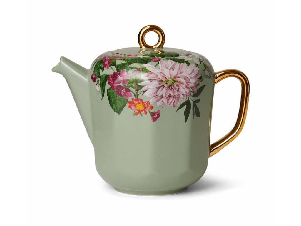 čajník zelený gallery kvety