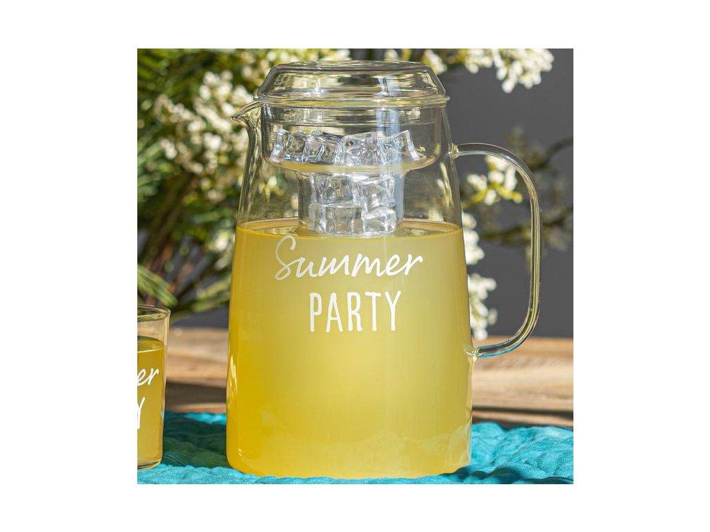 caraffa con portaghiaccio vetro borosilicato decoro summer party AM 10012301 1917e7e6 7125 4389 9854 41118ade68b1 629x629