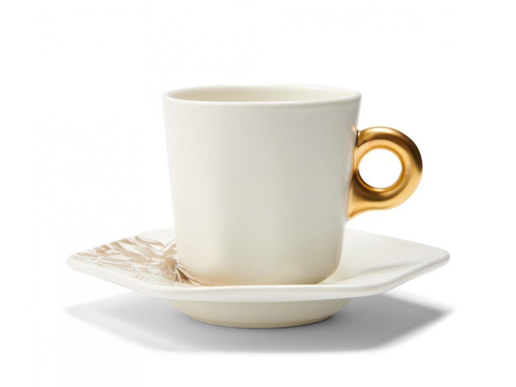 Espresso šálka zlato biela Masterpiece