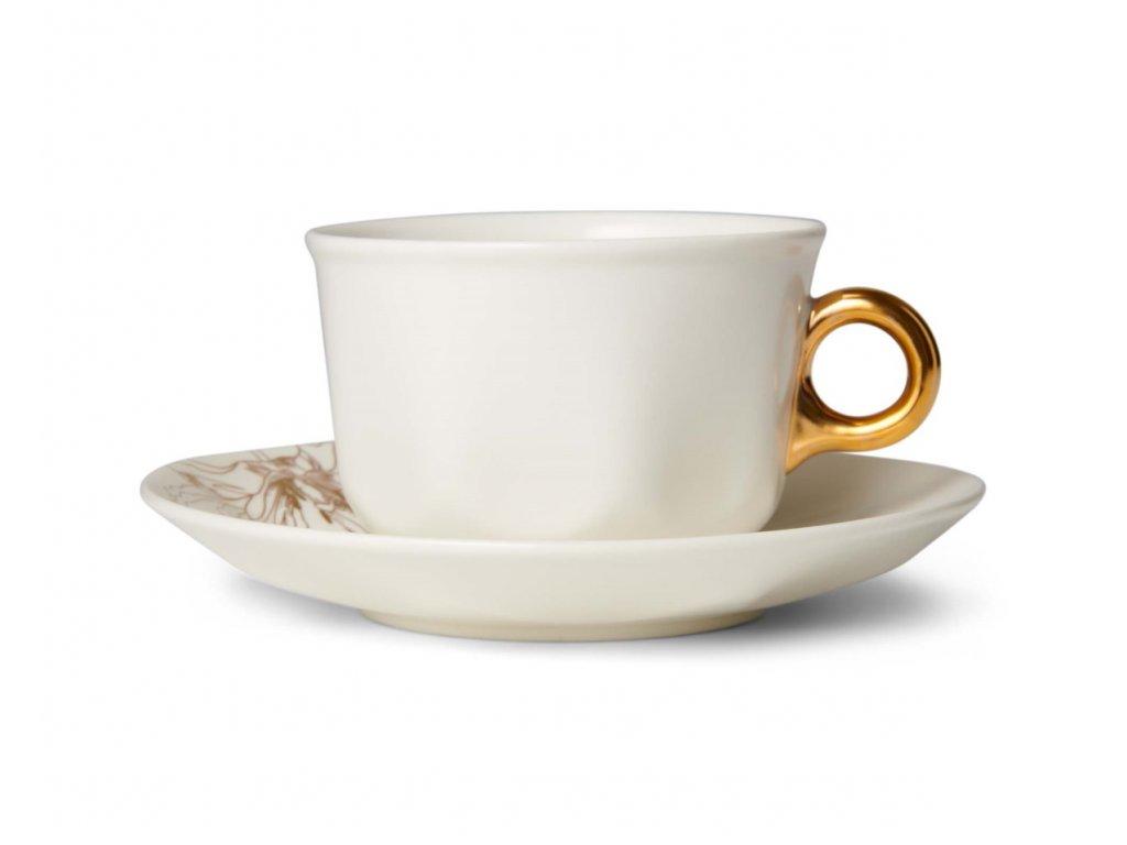 Šálka na kávu s tanierikom Masterpiece biela