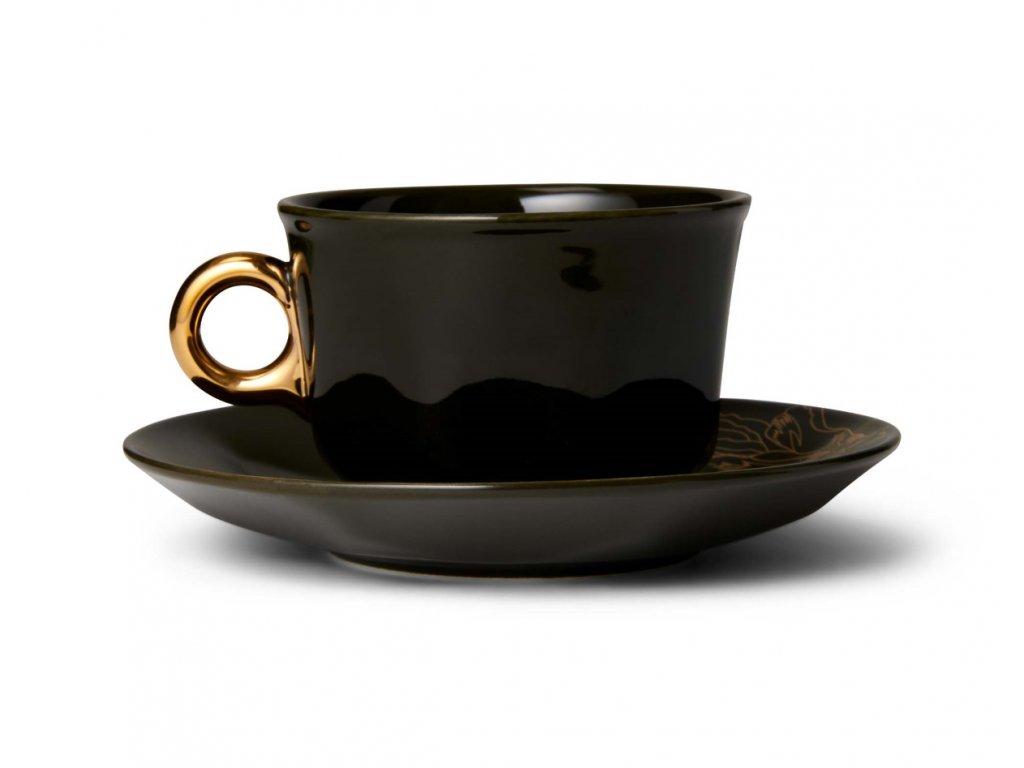 Šálka na kávu Masterpiece tmavá 220 ml