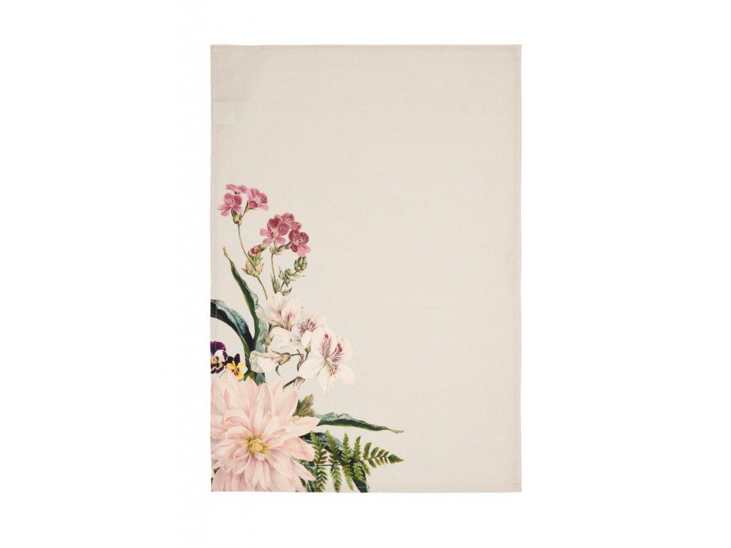 Kuchynská utierka kvety