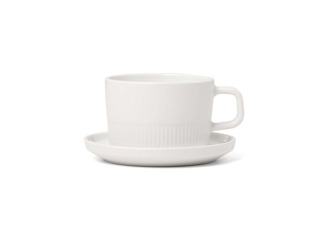 moments coffee cup and saucer chalk white d