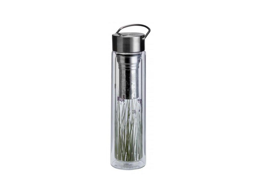 Sklenená termoska Flowtea green grass