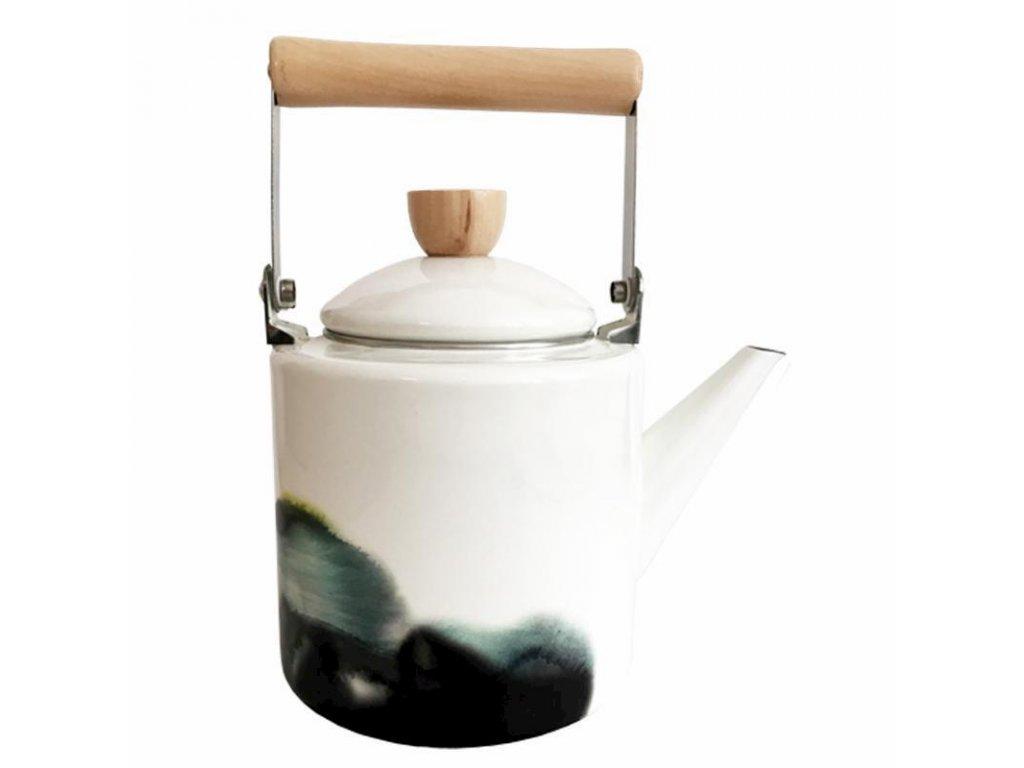 Smaltovaný čajník Aquarel