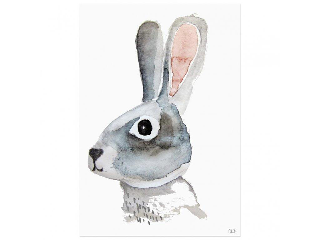 Plagát do detskej izby Zajačik