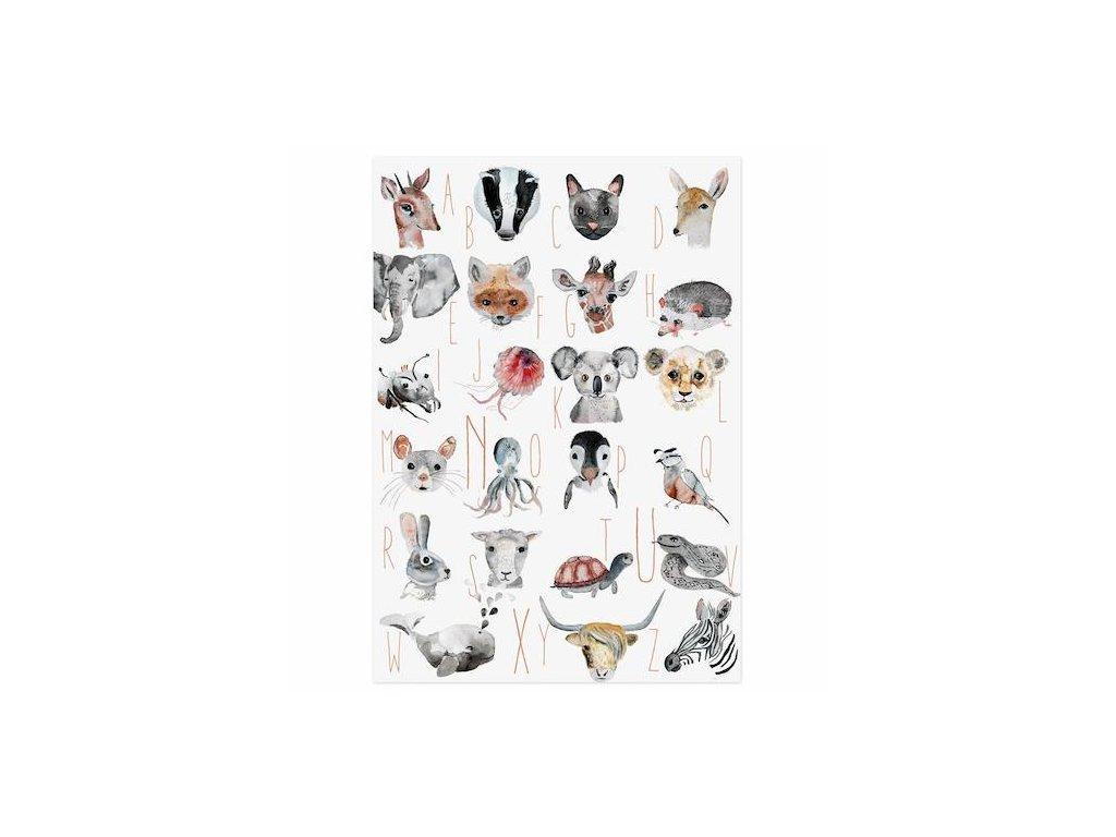 Plagát abeceda Zvieratká