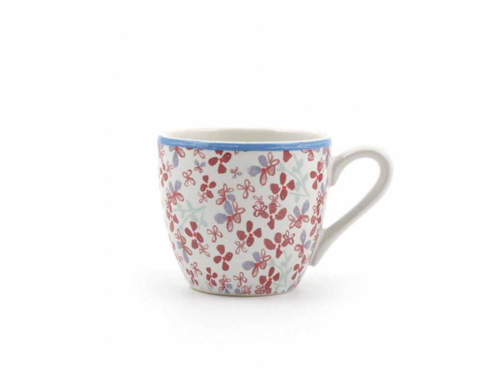 Šálka na espresso kvety