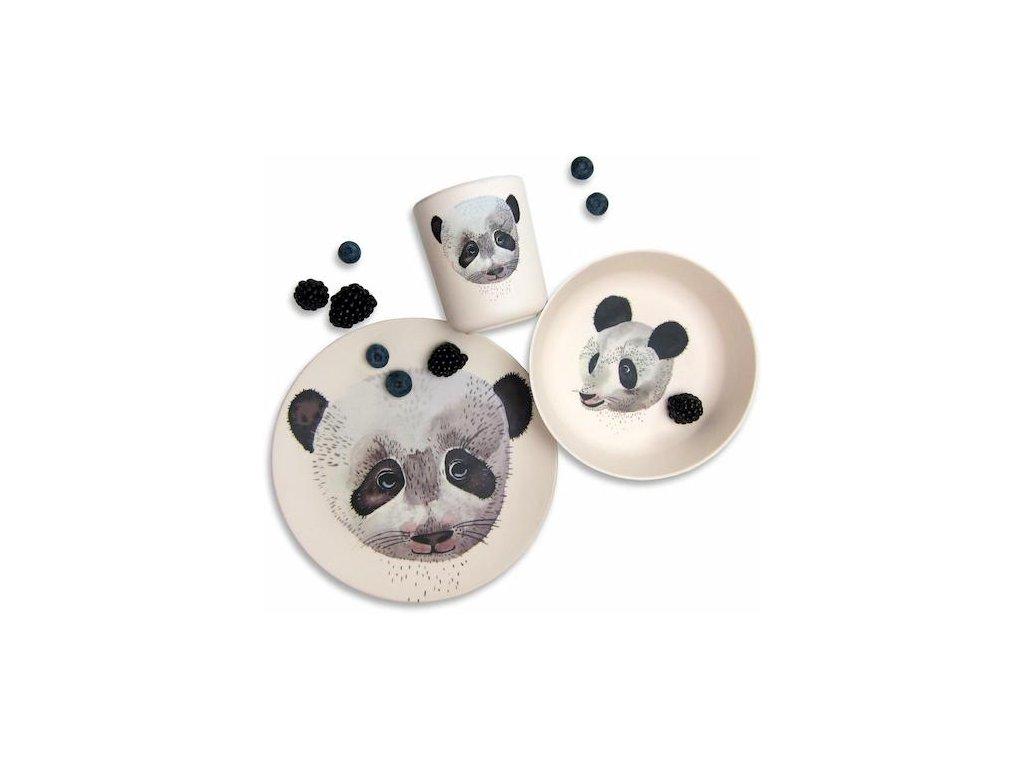 Detský bambusový riad Panda