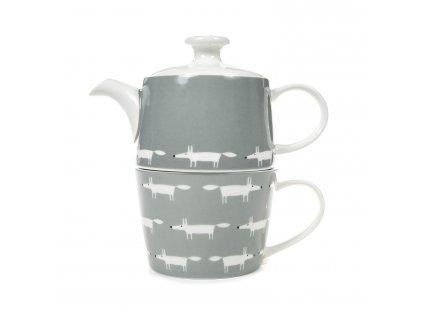 SC 0264 grey tea for two teapot mug