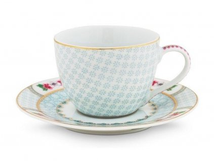 Šálka espresso s tanierikom 120 ml Blushing Birds White