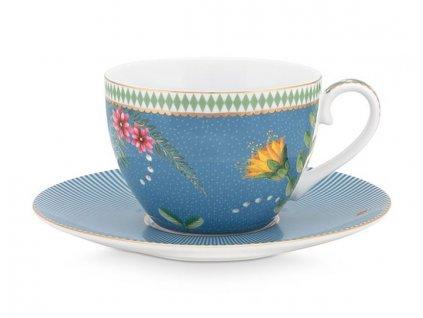 šálka s tanierikom modrá pip studio