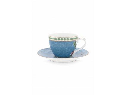 Espresso šálka s tanierikom 120 ml modrá