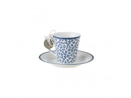 Kvetinová šálka na espresso s tanierikom