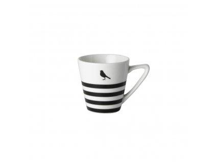 Espresso čierno biele pruhy s tanierikom