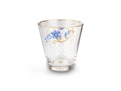 Sklený pohár Royal so zlatými ozdobami