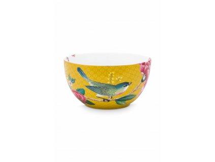 Miska porcelán žltá