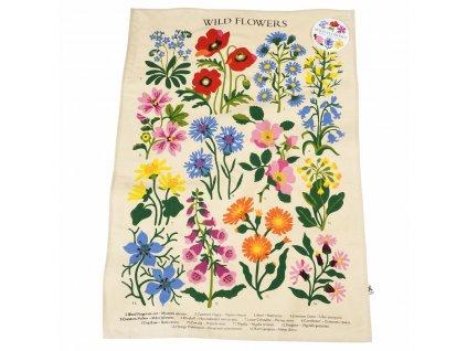 utierka do kuchyne záhradné kvety