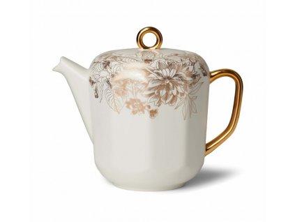 čajník masterpiece bielo zlaté prevedenie