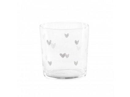 sklenený pohár srdiečka