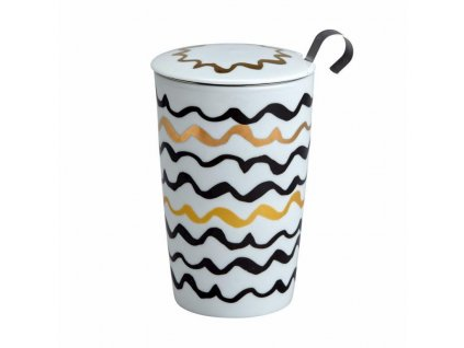 Porcelánový hrnček Teaeve vlnky