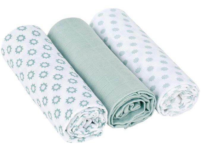 Lässig 4babies Swaddle blanket 85x85 Little Chums Star light mint
