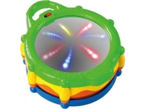 Bright Starts Hračka buben hudební a svítící Light & Giggle Drum ™ 6-36 m