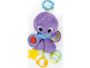 Bright Starts Hračka na C kroužku TWIRL Whirly chobotnička 0m+