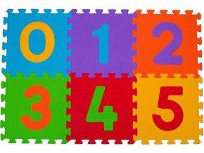 BabyOno Puzzle pěnové číslice 6ks, 6m+