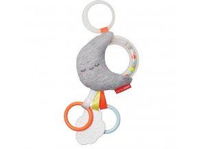 Skip Hop Hračka na C-kroužku Silver Lining Cloud - Měsíček 0m+