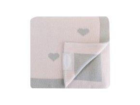 SHNUGGLE Luxusní pletená deka růžová