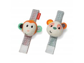 Infantino Chrastítka na ruku Opička & Panda