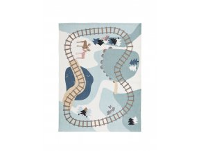Kids Concept Koberec koleje Edvin 130x170 cm