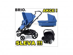 Brio GO trojkombinace bright černý rám