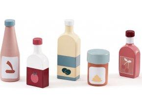 Kids Concept Láhve dřevěné 5 ks Bistro