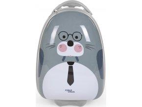 Childhome Dětský pojízdný kufr Mrož Grey