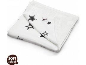 Bambusová deka XKKO BMB Silver Stars 130x70cm