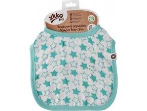Bambusový bryndáček XKKO BMB - Little Stars Turquoise
