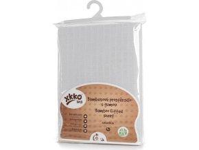 Bambusové prostěradlo s gumou XKKO BMB 120x60 - Bílé