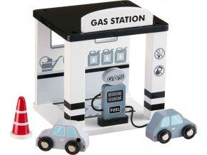 Kids Concept Benzínová stanice dřevěná Grey