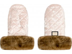 Bjällra of Sweden Rukavice Velvet Pink / Natural fur