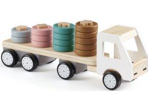 Kids Concept Náklaďák s kroužky dřevěný Aiden