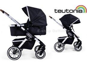 Teutonia TRIO Silver /Melange Black 2020  + Dárek: + nánožník, držák nápojů  (celkem v hodnotě 3078,- Kč)