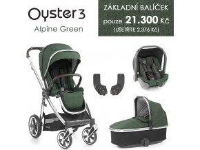 BabyStyle Oyster 3 základní set 4 v 1 2020 (Barva Alpine Green)
