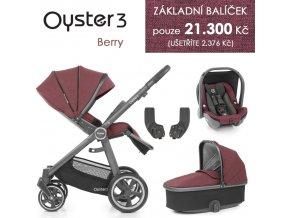 BabyStyle Oyster 3 základní set 4 v 1 - Berry