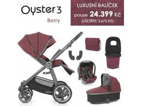 BabyStyle Oyster 3 luxusní set 6 v 1 - Berry