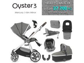 BabyStyle Oyster 3 nejlepší set 8 v 1 2020 (Barva Mercury / Mirror)