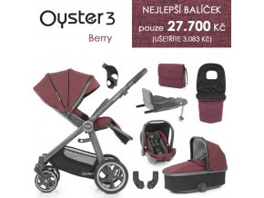 BabyStyle Oyster 3 nejlepší set 8 v 1 - Berry