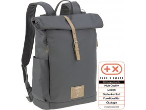 Lässig 4family Green Label Rolltop Backpack anthracite